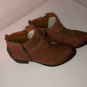 Women's brown Lucky brand booties.